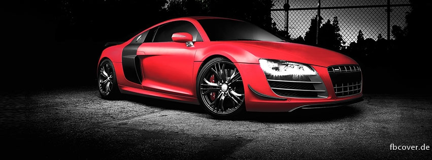 Audi R8 Rot Facebook Titelbild Aus Der Kategorie Autos