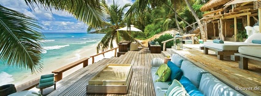 Traumhaus am strand  Luxus Strand Facebook Titelbild aus der Kategorie Natur